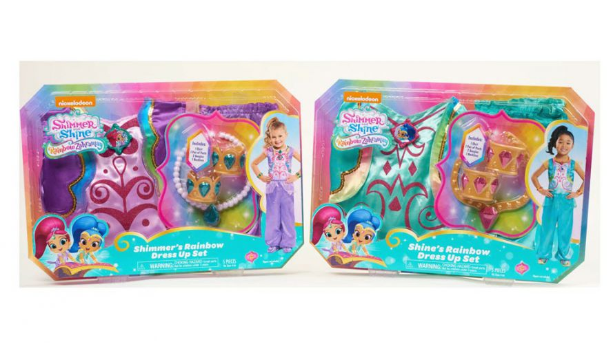 Shimmer and Shine Rainbow Falls Dress Up Sets by Just Play