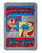 Nick '90s Ren & Stimpy Decorative Blanket by Jay Franco